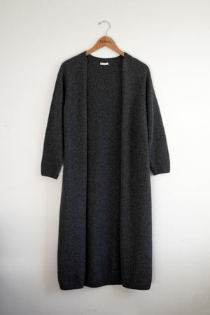 Wrap-in-Luxury Long Cardigan -Charcoal