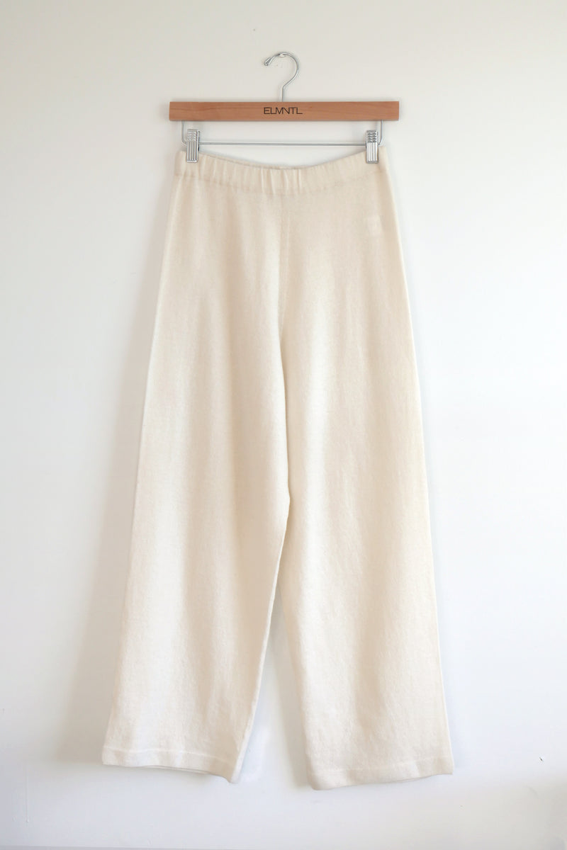 Lightweight knit Pant-Cream