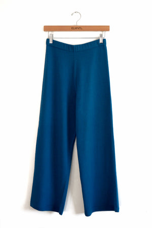 Lightweight Knit Pant-Turquoise