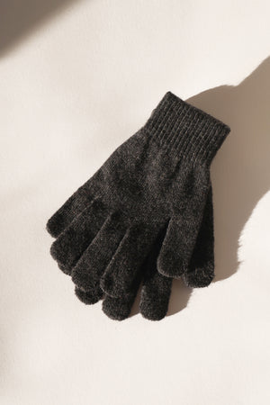 Wool Gloves - Charcoal