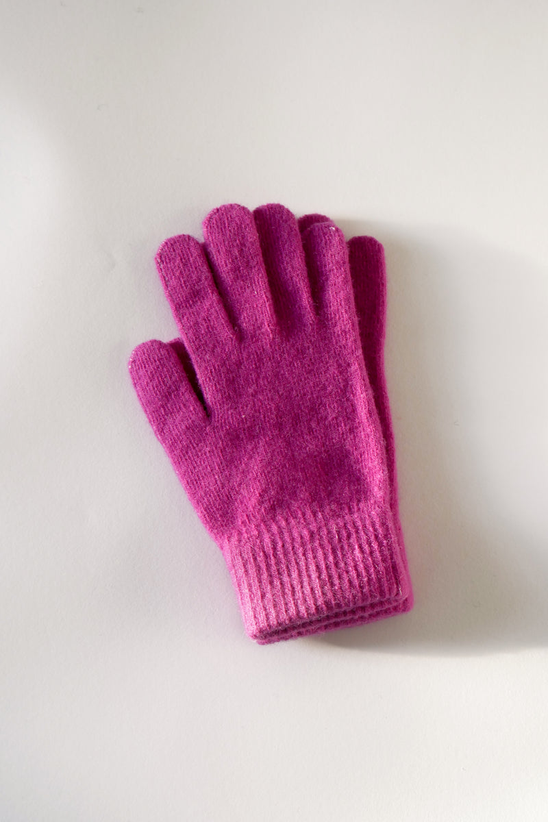 Wool Gloves - Fuchsia