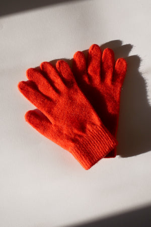Wool Gloves - Orange