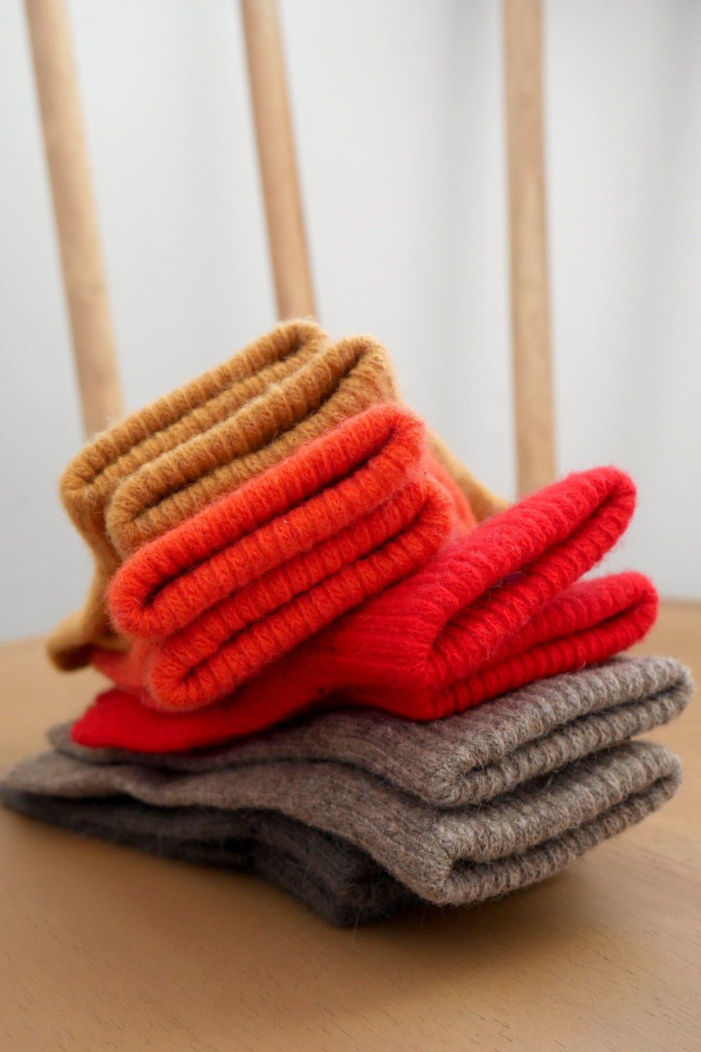 Wool Gloves - Berry Red