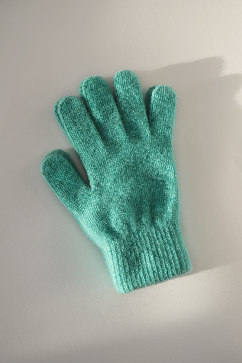 Wool Gloves - Emerald Green
