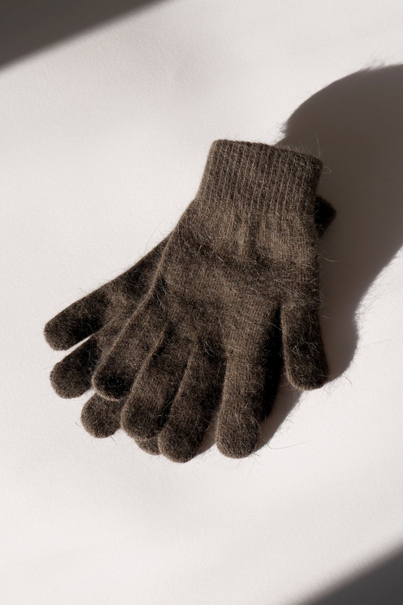 Wool Gloves - Taupe Grey
