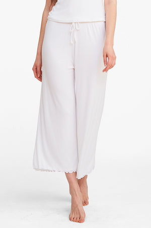 Double Layer Lounging Pant - Pure White