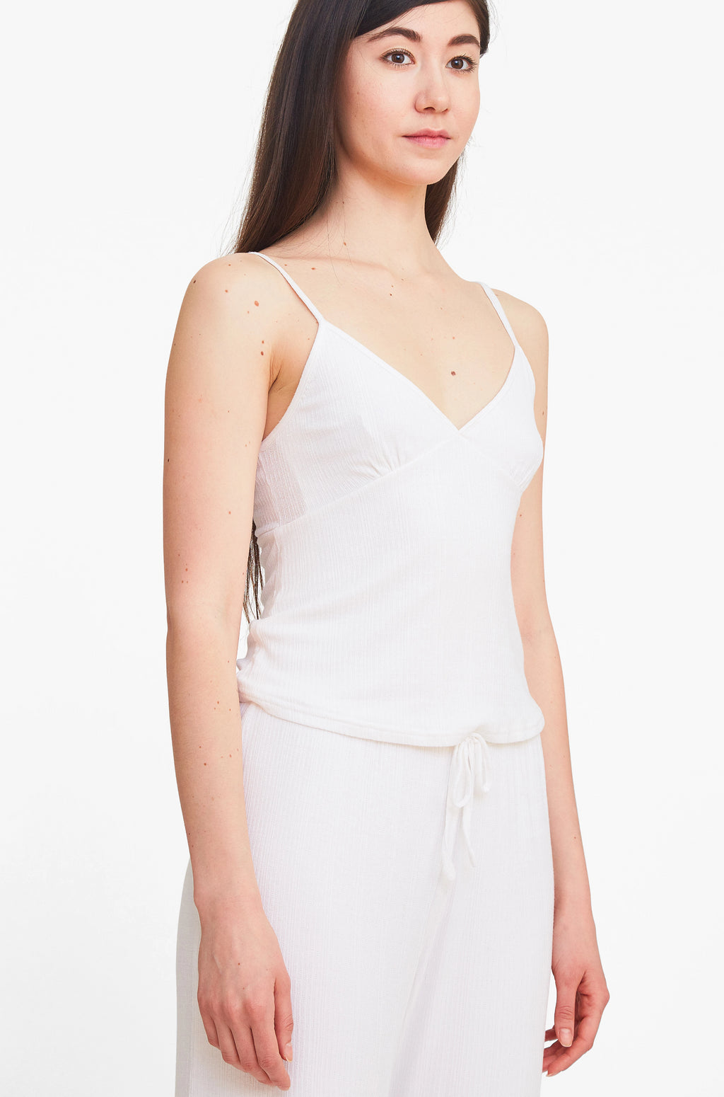 Double Layer Cami Top - Pure White