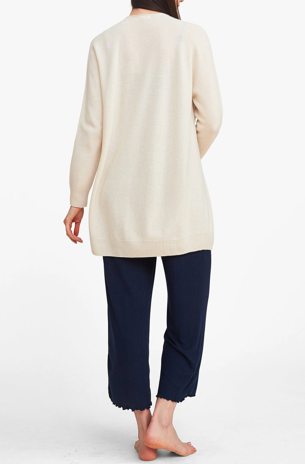 Effortlessly Chic Open Cardigan - Ivory