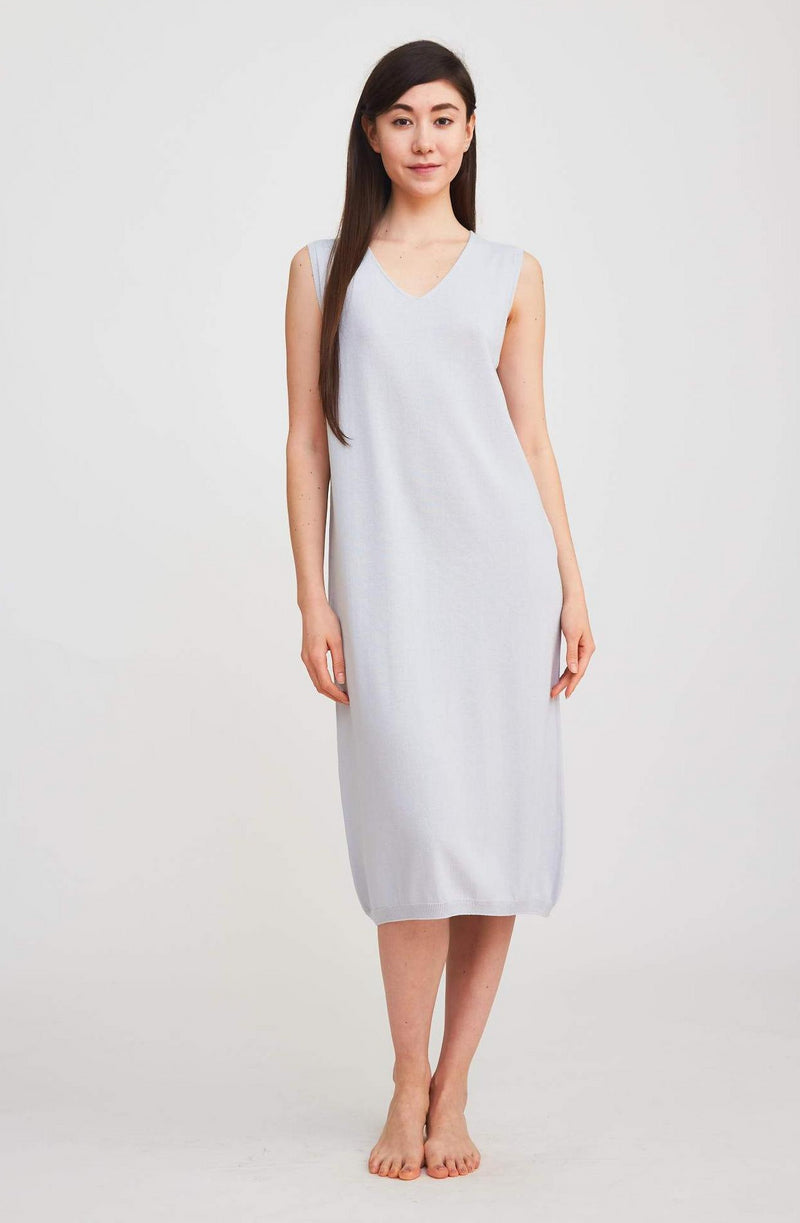 Summer Sweater Dress - Blue Mist