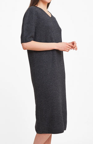 3D Printed Cashmere Dress - Charcoal