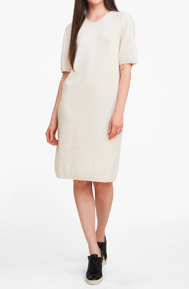 Simply Classy Sweater Dress - Ivory