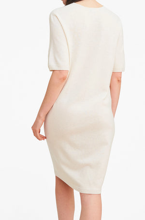 3D Printed Cashmere Dress - Ivory