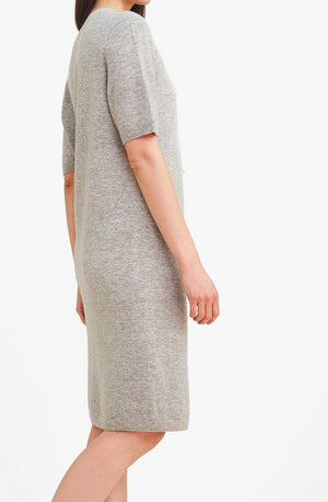 3D Printed Cashmere Dress - Grey