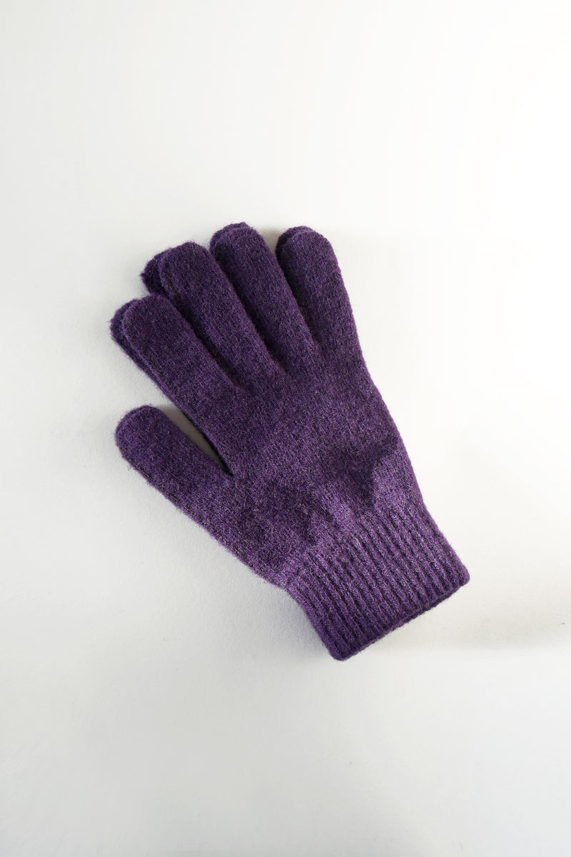 Wool Gloves - Purple