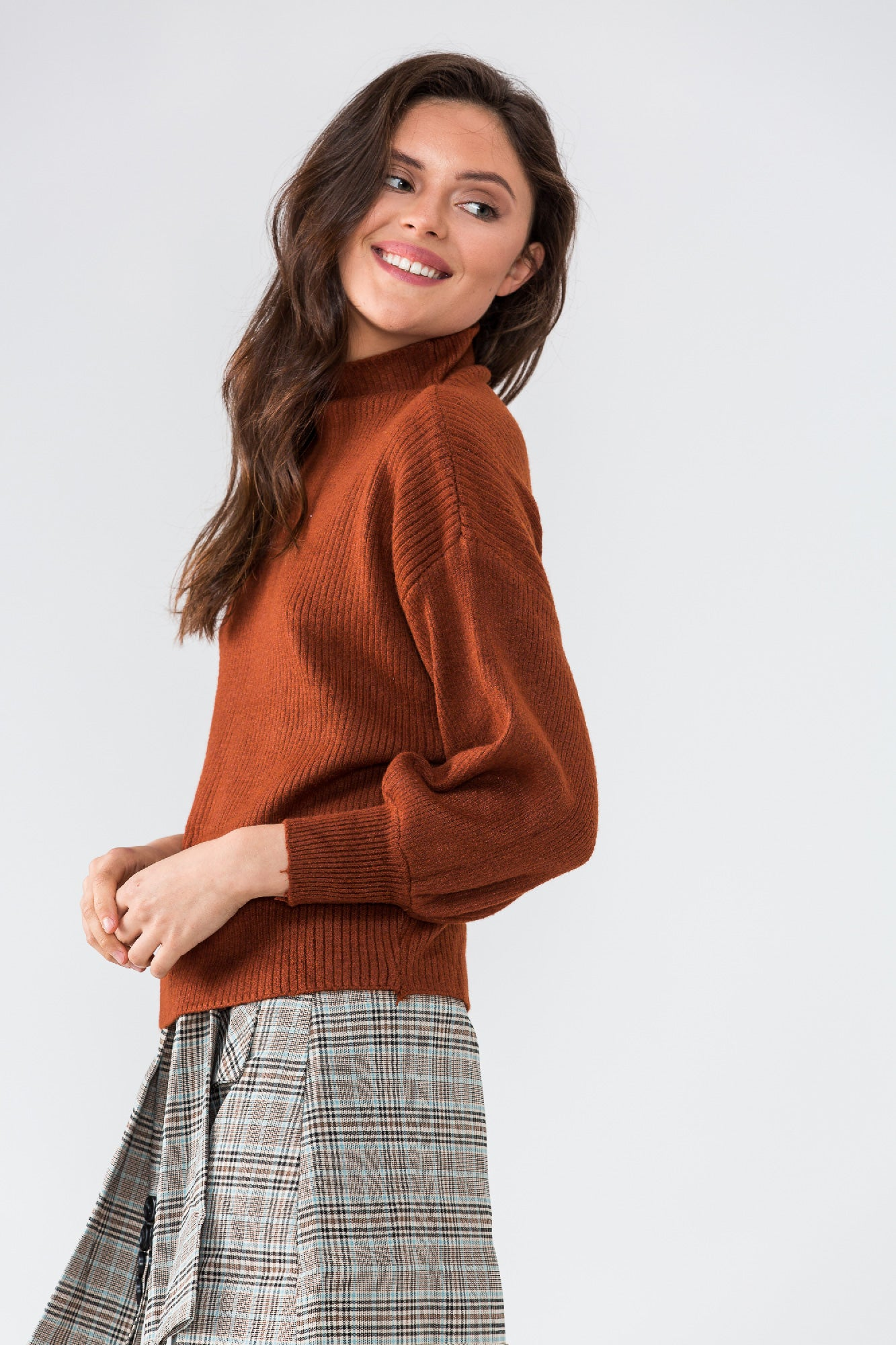 BASICALLY PERFECT top (brown)