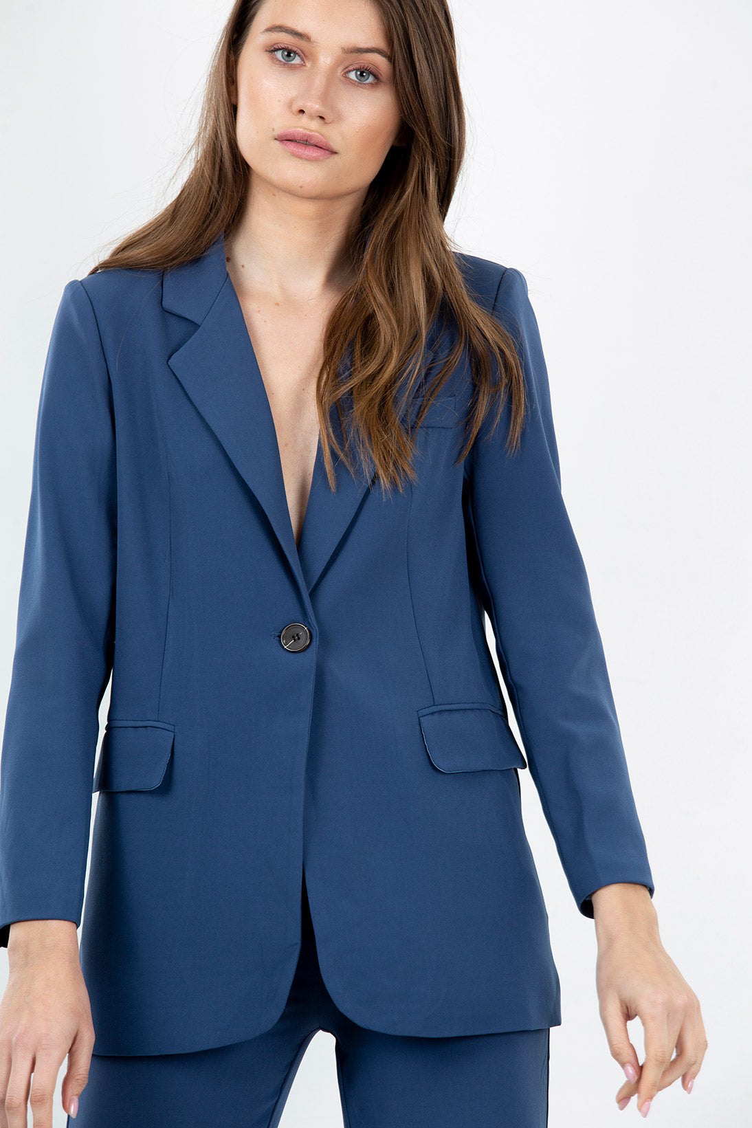 City silk suit jacket
