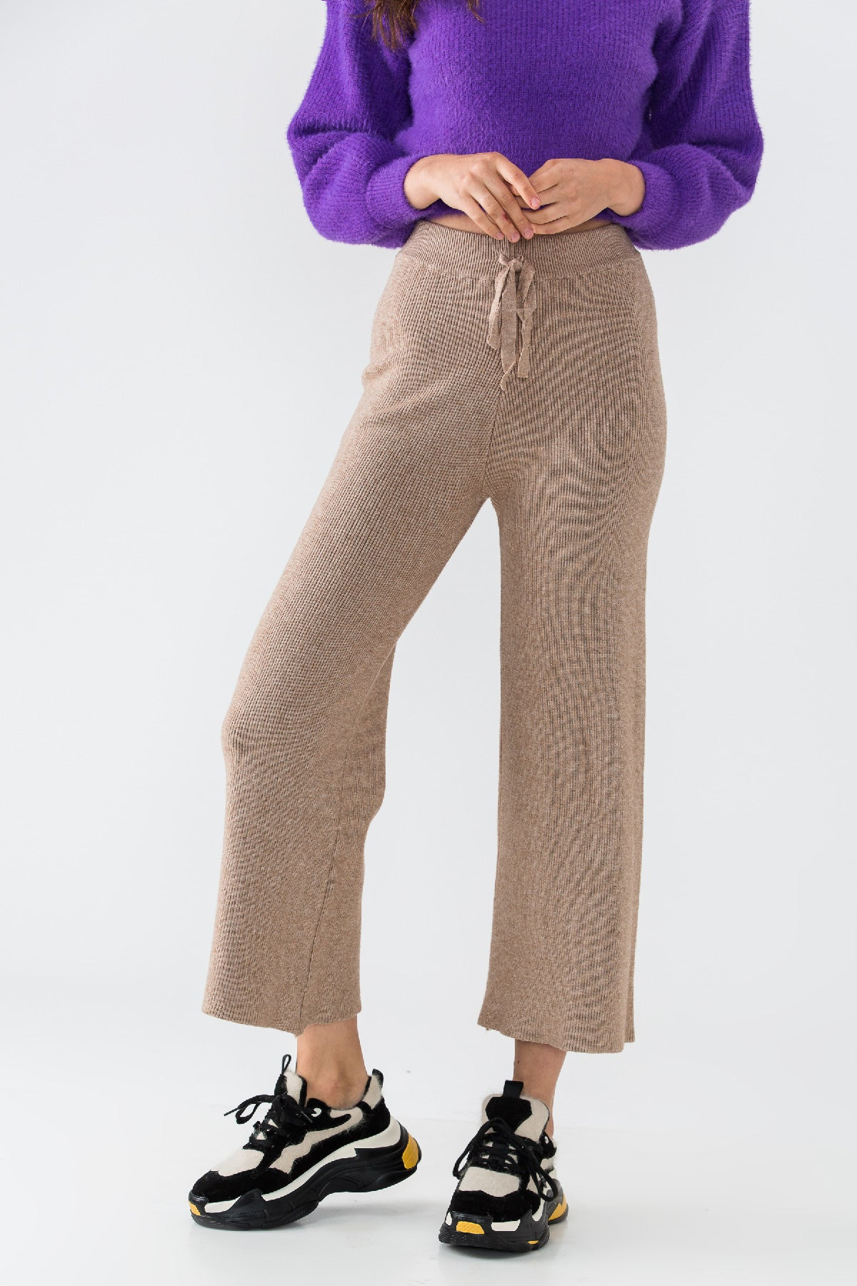 PERFECT KNIT PANTS (CAMEL)