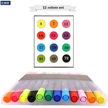 Load image into Gallery viewer, Double head watercolor brush mark pen sketch painting color manga dessin feutre boligrafos art supplies 3110 80 colors