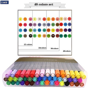 Double head watercolor brush mark pen sketch painting color manga dessin feutre boligrafos art supplies 3110 80 colors
