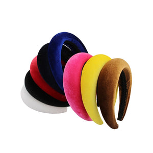 Headband Velvet Women Fashion Headwear 4cm Wide Plastic Headbands For Women