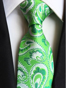 Necktie Classic Silk Men Tie Plaid Neck Ties 8cm Green Blue Ties for Men Formal Wear Business Suit Wedding Party Gravatas