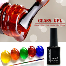 Load image into Gallery viewer, Newest 7.3ML Translucent Amber Coloured Glaze Gel Nail Enamel Colors Nail Art Manicure Decoration Creative Glass Gel Polish DIY