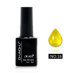 Newest 7.3ML Translucent Amber Coloured Glaze Gel Nail Enamel Colors Nail Art Manicure Decoration Creative Glass Gel Polish DIY