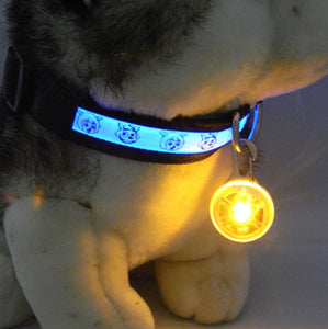 Bright Dog Pet LED Night Safety Flash Light for Collar, Push Button Switch Flashing Pet Dog Collar LED Glowing Collar Accessorie