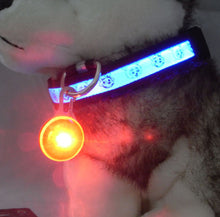 Load image into Gallery viewer, Bright Dog Pet LED Night Safety Flash Light for Collar, Push Button Switch Flashing Pet Dog Collar LED Glowing Collar Accessorie