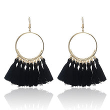 Load image into Gallery viewer, Earrings Bohemian Handmade Statement Tassel Earrings For Women Vintage Round Drop Ethic Earrings Wedding Bridal Fringed Jewelry