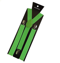 Load image into Gallery viewer, More Color For Choose New Mens Womens Unisex Clip-on Suspenders Elastic Y-Shape Adjustable Braces Colorful- 0055