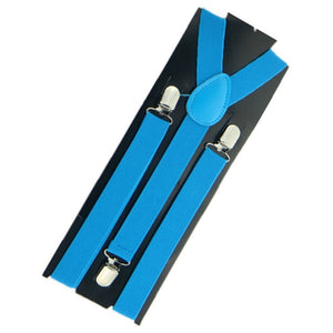 More Color For Choose New Mens Womens Unisex Clip-on Suspenders Elastic Y-Shape Adjustable Braces Colorful- 0055