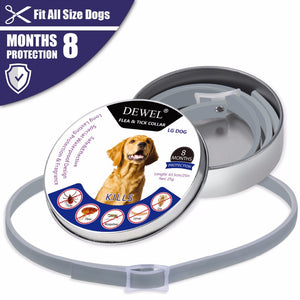 Pet Dog Collars Prevent Fleas Ticks Ticks Mosquitos Outdoor Protection Adjustable Pet Collars 8 Months Long-term Protection