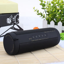 Load image into Gallery viewer, T2 Bluetooth Music Bass Speaker Waterproof Portable Outdoor LED Wireless Column Loudspeaker Support TF Card FM Radio Aux Input