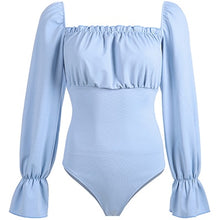 Load image into Gallery viewer, Sexy bodysuits for women, shoulders, open shoulders, back, cross, adjustable cross, long sleeves Cute comfortable fabric