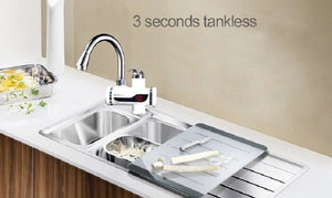 Instant hot kitchen faucet, hot water heater Instant Temperature Display, Hot Water Tap Tankless 3000 Watt