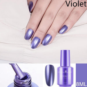 Metallic Nail Polish Purple Rose Gold Silver Chrome Nail Polish for Manicure Varnish Available in a variety of colors, volume 8/18 ml.
