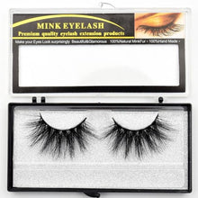 Load image into Gallery viewer, Mink Eyelashes Criss-cross Strands Cruelty Free High Volume Mink Lashes Soft Dramatic Eye lashes E80 Makeup
