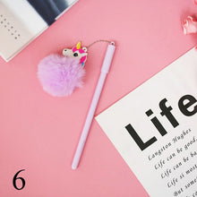 Load image into Gallery viewer, Pink Flamingo Gel Pen Beautiful Plush Swan Pens For School Writing Girl Gifts Neutral Pens School Supplies Stationery 1pc