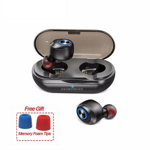 Capsule TWS Wireless Earbuds V5.0 Bluetooth Earphone Headset Deep Bass Stereo Sound Sport Earphone For Samsung Iphone