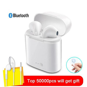 Headphones i7 Bluetooth Earphone Stereo Earbud Wireless Headphones With Charging Box Mic For airpods PK i9s i10s Dropshipping