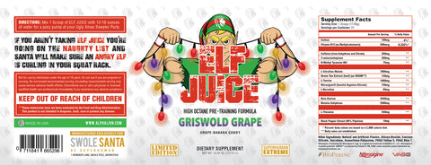 Elf Juice Label