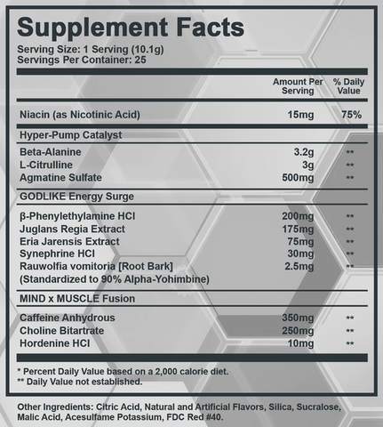 AREZ Titanium Supplement Facts