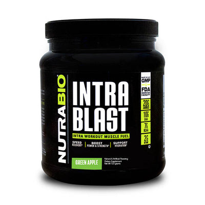 NutraBio Intra Blast Green Apple