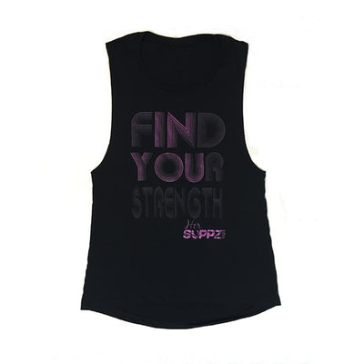 HerSUPPZ Find Your Strength Muscle Tank