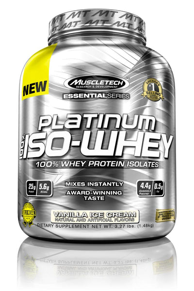 iso whey vanilla 3.3 lbs muscletech essential