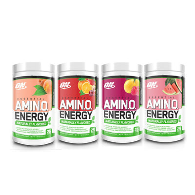 Naturally Flavored Amino Energy - collage