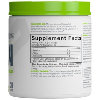 Muscle Pharm BCAA Suppfacts