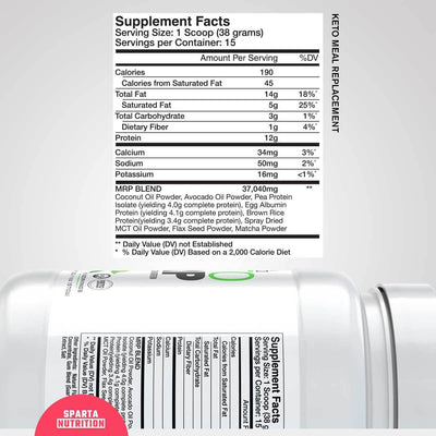 Keto MRP Supplement Facts