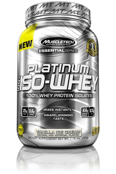 iso whey vanilla 1.75 lbs muscletech essential